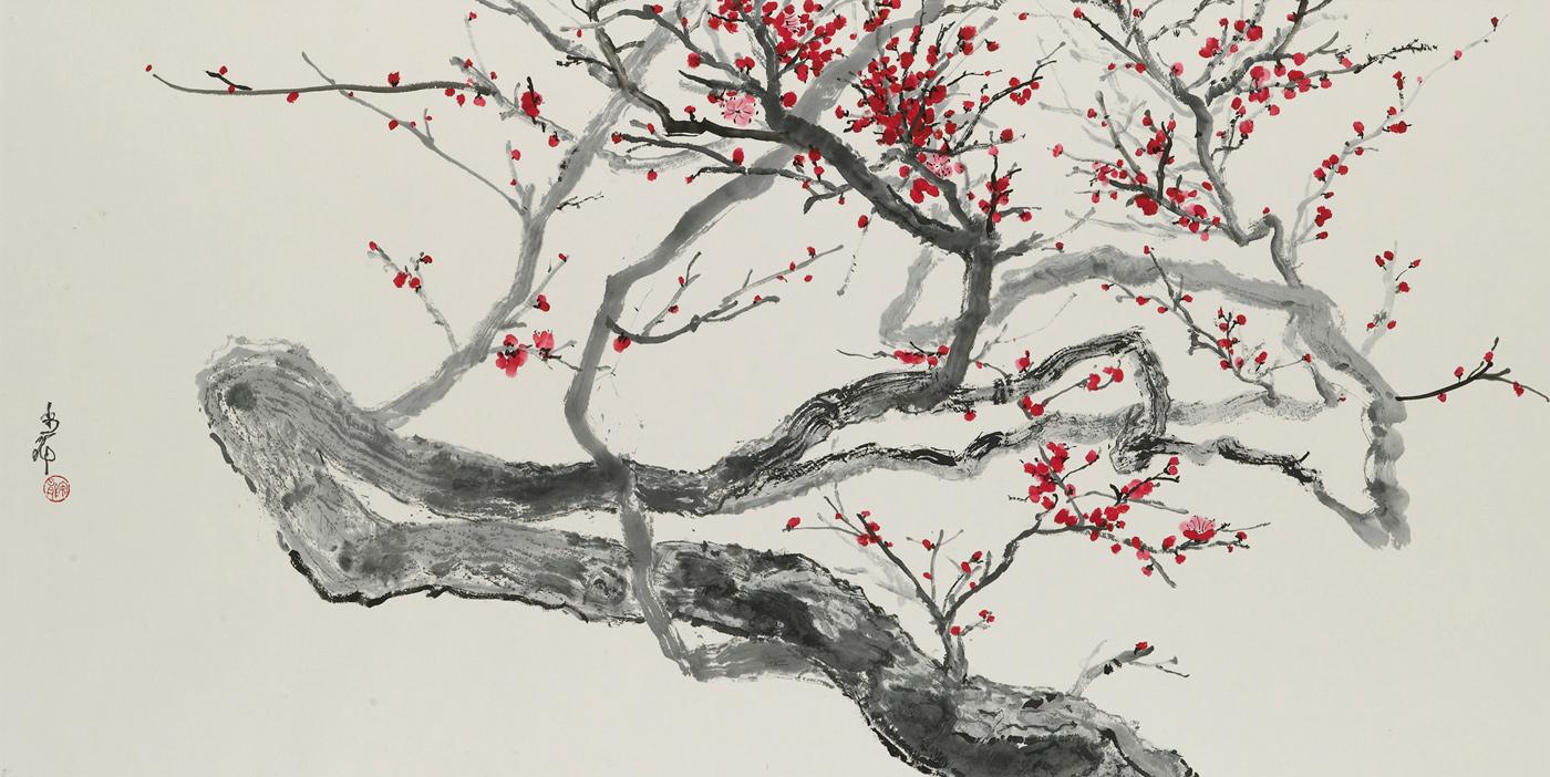 Flowers Meihua Plum Blossoms 梅花 Ou Anlong